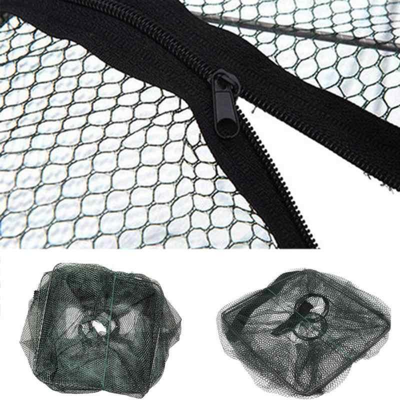 Prático Dobrável Cesta Nets Gaiola Camarão Crawdad Minnow Isca De Pesca Armadilha Elenco Net