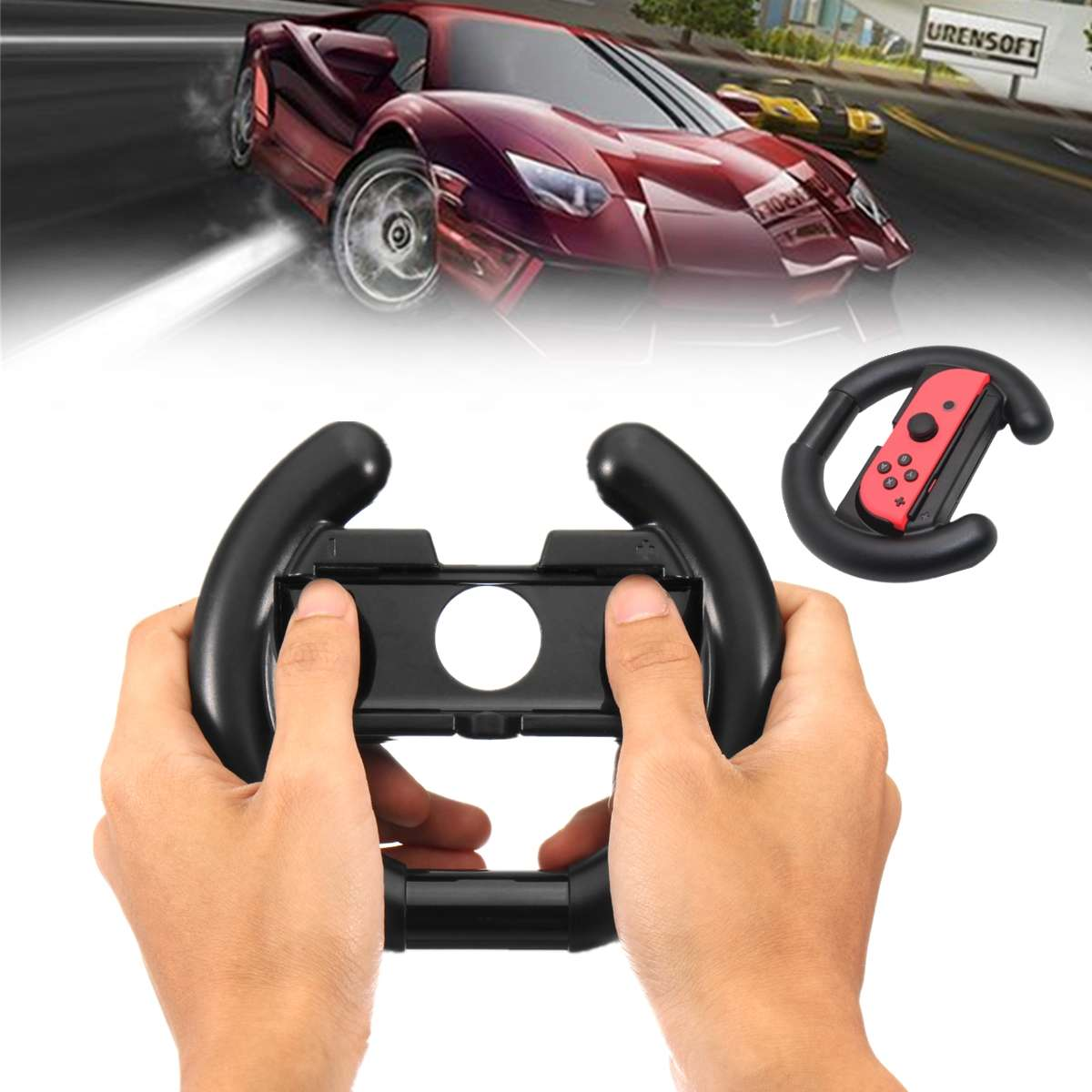 For NS Controller Gamepads Direction Steering Wheel Hand Grip Handle For Nintend Switch Joy-co Console Video Racing Games Wheels