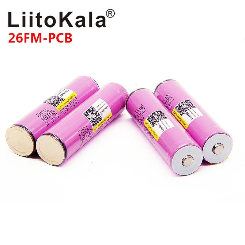 NEW LiitoKala 18650 2600mah ICR18650-26FM 3.7V 18650 Capacity Rechargeable Li-ion Battery For LED Flashlight Torch Battery
