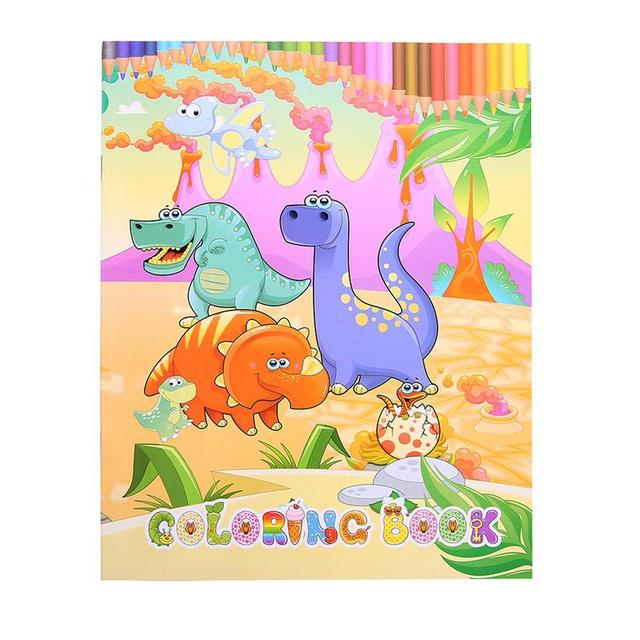 Lucu Dinosaurus Awal Belajar Mewarnai Buku Pita Seni Anak Anak