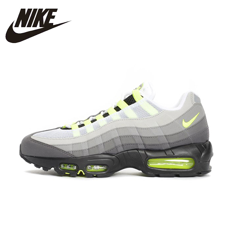 Nike Original Air Max 95 Og Mens Running Shoes Mesh Breathable Stability Support Sports Sneakers 554970
