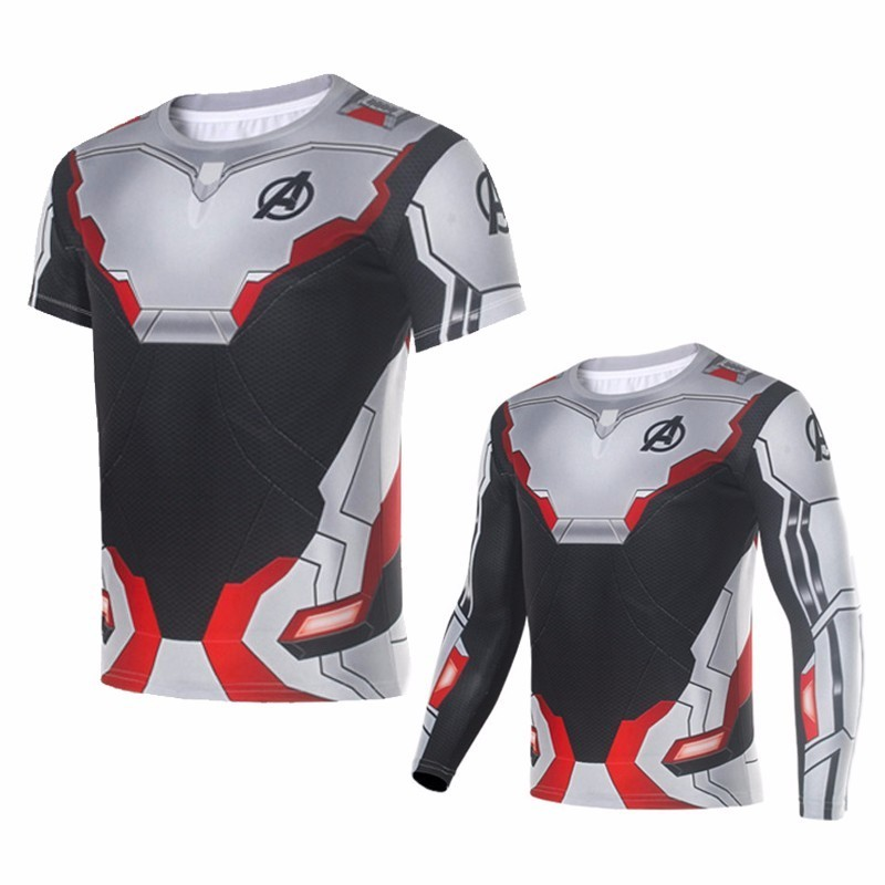 Avengers Endgame Quantum Realm 3D Printed T Shirt Sport Tight Tees Men Women Tracksuit Tops Superhero Cosplay Tee Shirt