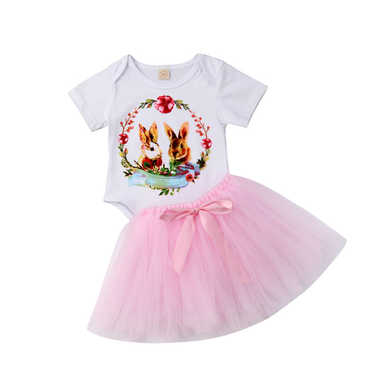 Infant Baby Girls Floral Outfits Toddlers Long Sleeve Sweatshirts with Skirt and Headband