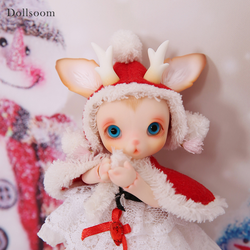 BJD ตุ๊กตา Rudy 1/8 Christmas Deer รวม Fullset ตัวเลือกสัตว์เลี้ยงน่ารักตุ๊กตา Oueneifs luodoll-ใน ตุ๊กตา จาก ของเล่นและงานอดิเรก บน   2