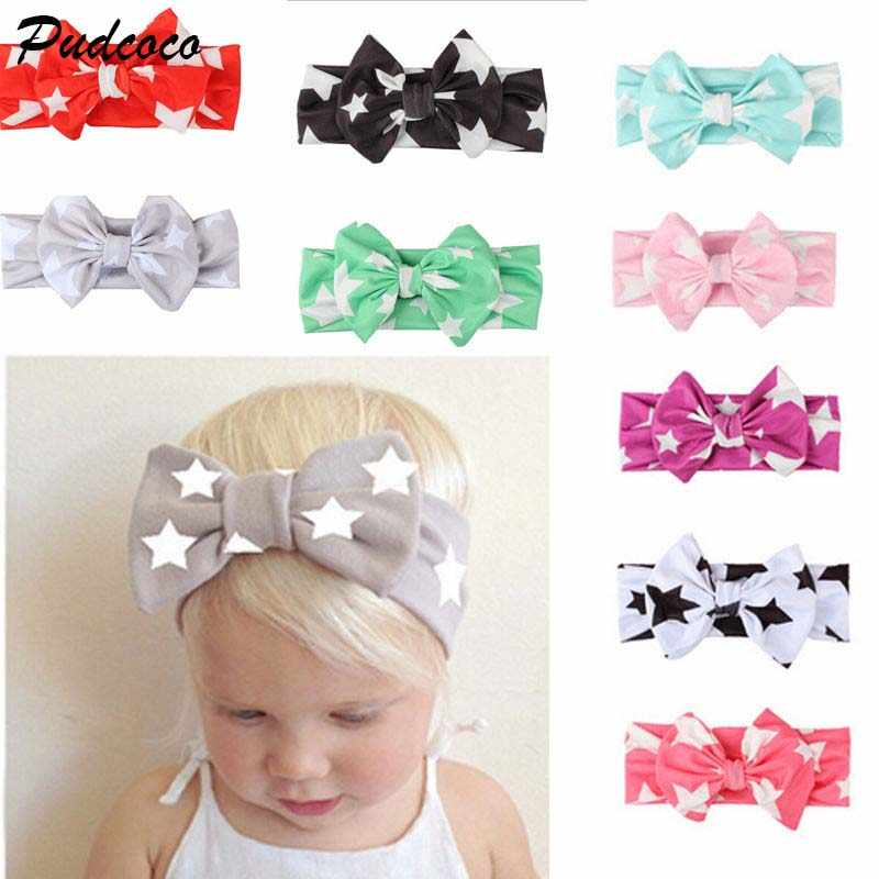 Kids Girl Baby Headband 2018 New Toddler Lace Bow Flower Star Print Infant Cotton Hair Band Accessories Lot