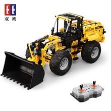 Cada Double E Wheel loader Bulldozer Excavator Remote Control Car 491PCS Building Blocks Bricks Technic Series Battery C51058W