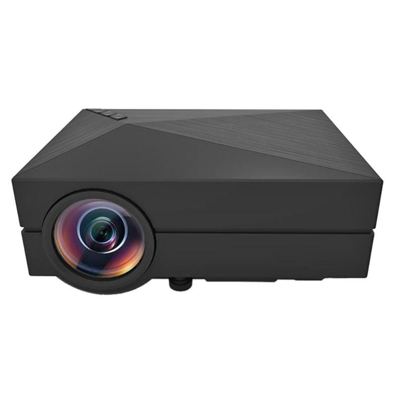 Hospitable Gm60 Home Theater Hdmi Usb Vga Av Lcd Mini 1080p 3d Projector Media Beamer With Vga, Hdmi, Usb, Headphones