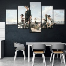 5 Piece Canvas Art Attack on Titan Anime Poster Cuadros Decoracion Paintings Wall for Home Decorations Decor