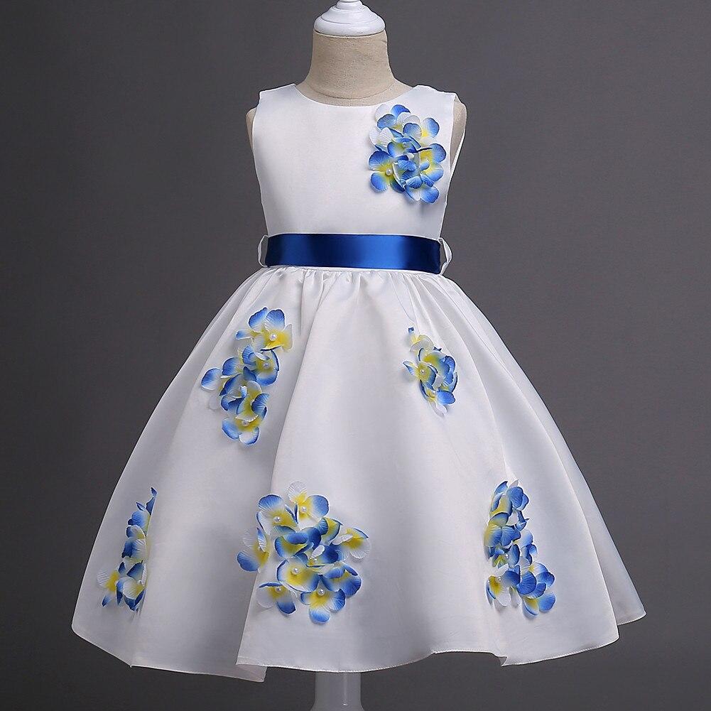 JaneyGao Flower Girl Dresses For Wedding Party Little Girl Birthday Dress Knee Length Teenage Girl First Communion Dress 2019-in Flower Girl Dresses from Weddings & Events    2