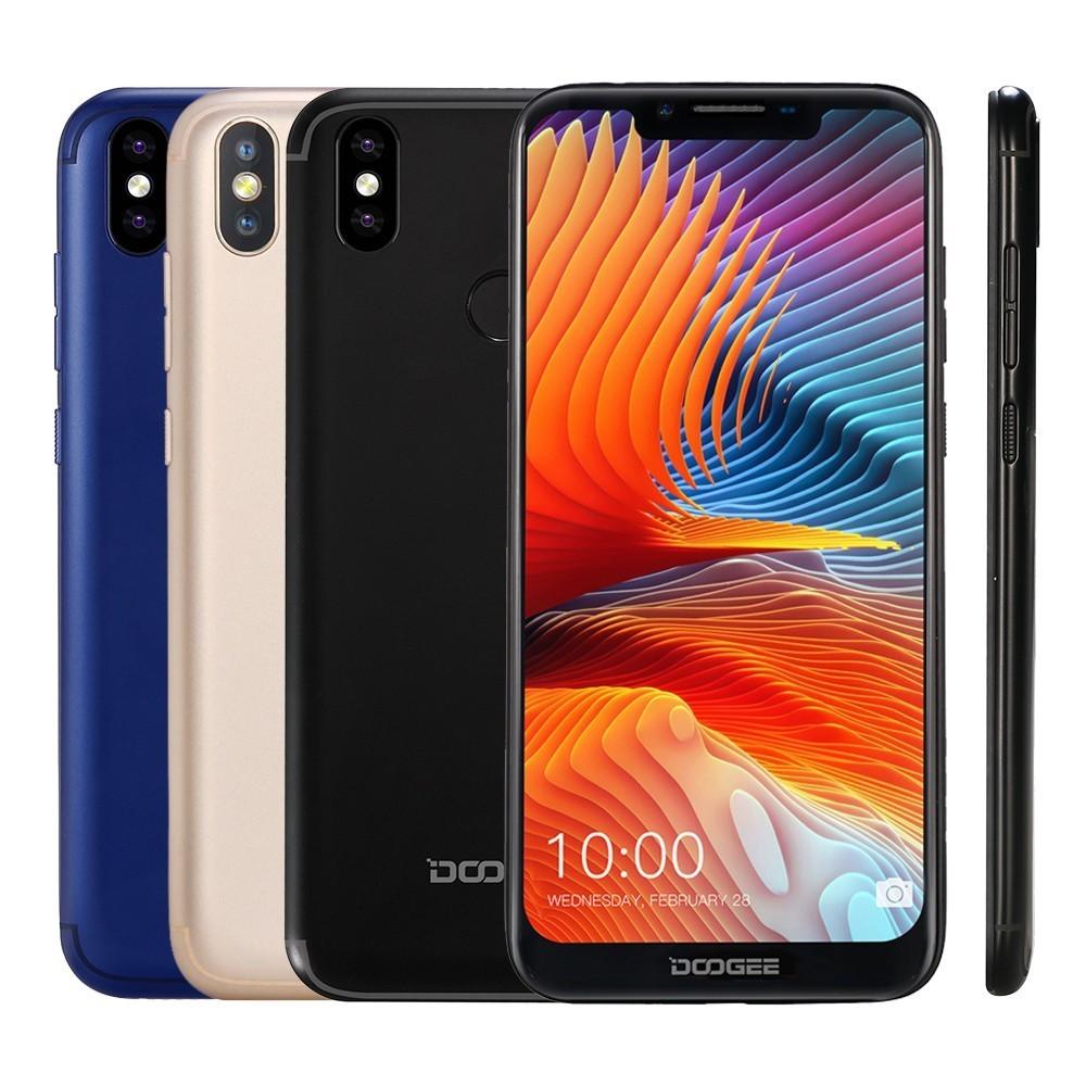 DOOGEE BL5500 Lite 2 GB 16 GB teléfono inteligente 6,19 MTK6739 Quad Core Android 8,1 13.0MP 5500 mAh huella dactilar Dual SIM del teléfono móvil