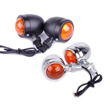 2PCS Motorcycle Modified Turn Signal Retro Stylish Universal Indicators Plate Light Blinker Accessories