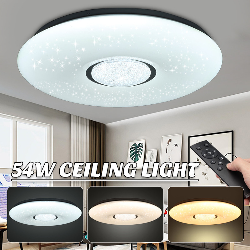 54W LED Ceiling Lamp 2835SMD 36 Led Light Bulbs Starlight Stars Sky 3-color Dimmable With Remote Control IP44 180V-240V
