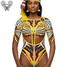 469f60c74a6 S-XXL Plus Size Swimwear African Swimsuit One Piece Push Up Padded Long  Sleeve Swimsuits