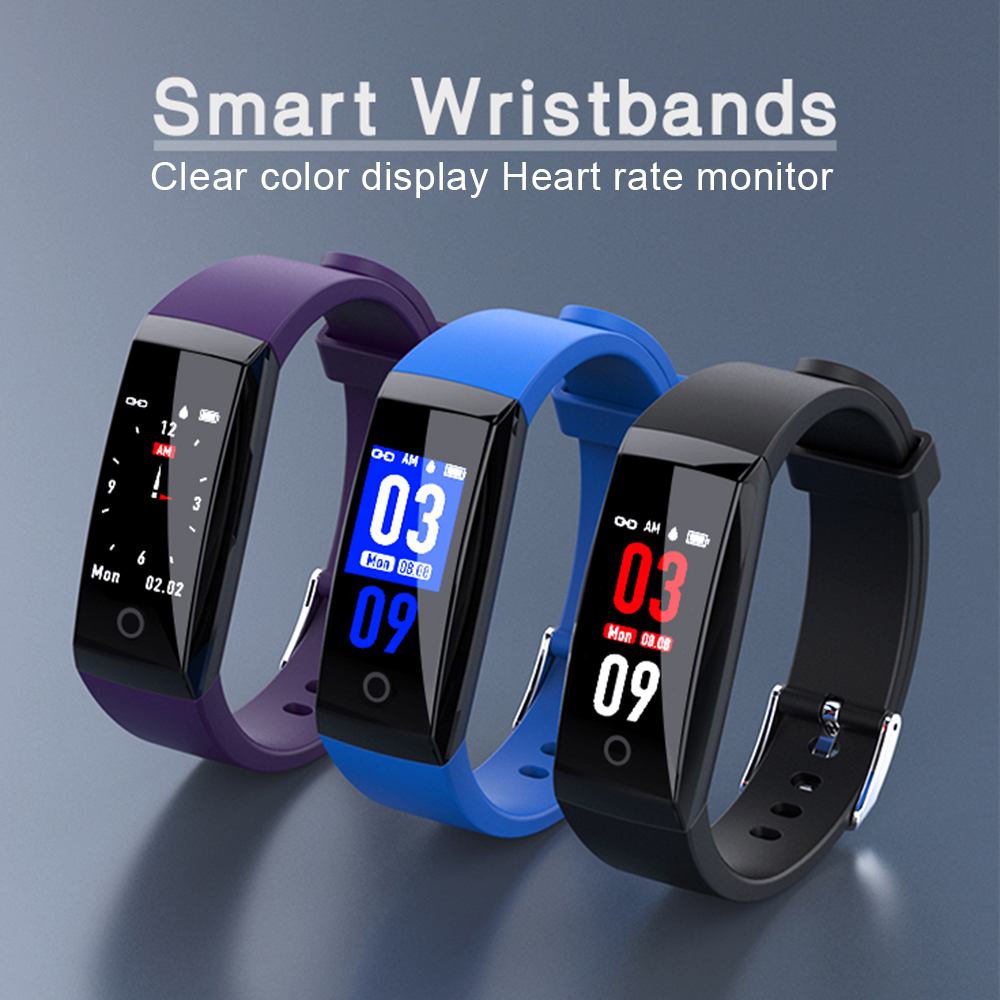 W8 Smart Band IP67 Waterproof Smart Wristband Activity Tracker Heart Rate Monitor Calorie Fitness Tracker Bracelet Pedometer