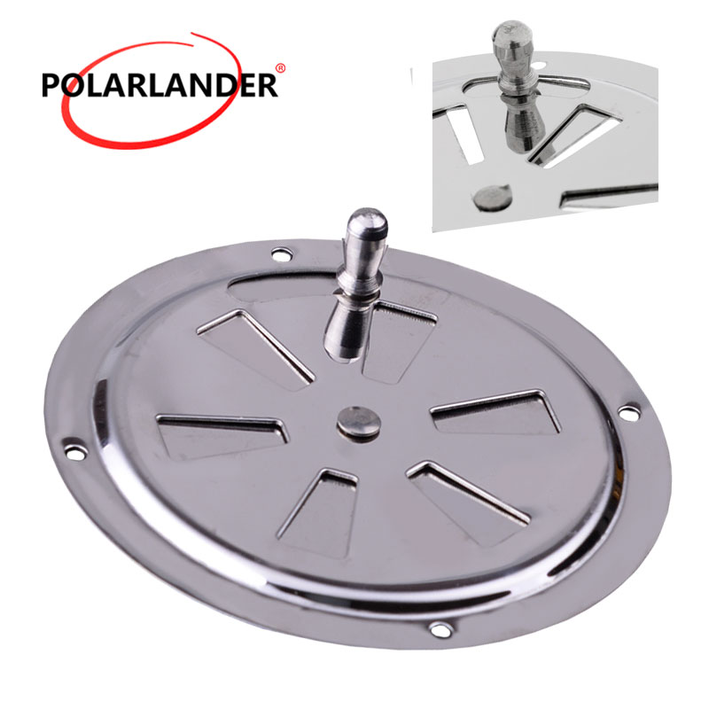 """2X Round Butterfly 5/"""" Air Ventilator Vent Cover Stainless Marine Boat Cabin"""