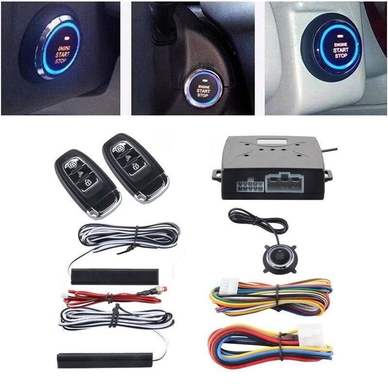 Alarme voiture démarrage allumage système de sécurité clé démarrage moteur bouton poussoir Kit télécommande