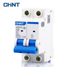 CHNT Small Low Voltage Circuit Breaker Household Two Pole Mini NXB-63 2P 32A 400V 50HZ Air Switch New DZ47