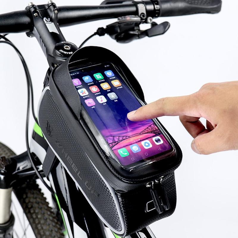 Cycling Bike Bicycle Riding Front Top Tube Frame Pannier Phone Saddle Bag Pouch