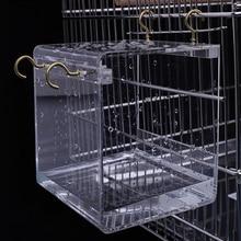 S/L акриловая подвесная клетка для птиц Легкая очистка птичья ванна для использования клетка для попугаев попугаи для использования дома и сада 1 шт