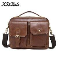 X. D. BOLO мужские сумки-мессенджеры из натуральной кожи сумки на плечо с верхней ручкой мужские сумки с небольшим клапаном повседневная мужска...
