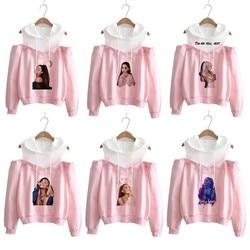 Ariana Grande Sweatshirt No Tears Left To Cry Hoodie Women Cartoon Print God Is A Woman Harajuku Sweatshirts Warm Tops Pullover 2