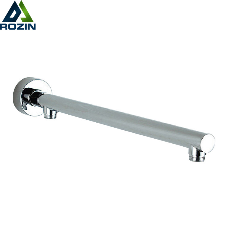 Chrome Wall Mounted Shower Arm Bathroom Shower Head Bracket Bar G1/2 Shower Head Fixed Pipe Shower Head Holder