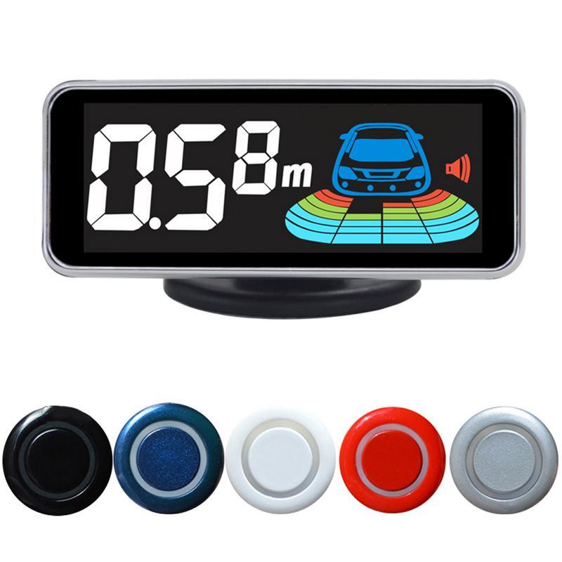 Car Parktronic Parking Sensor 4 Reversing Radar Detector LED Digital Assistance Alarm System FOR All