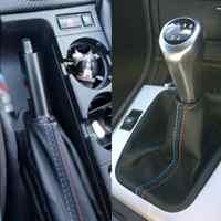 2 teile/satz Auto Änderung DIY Zubehör Handbremse Gamasche Shift Boot Leder Abdeckung Boot Für BMW 3 Serie E36 E46 M3