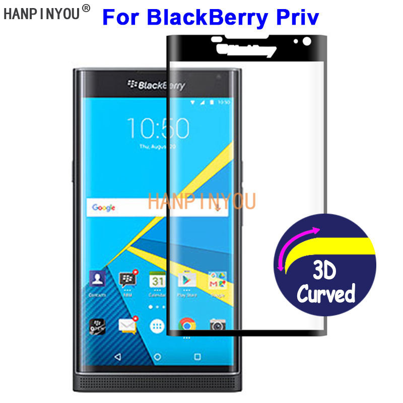 """For BlackBerry Priv STV100-1 5.4"""" 9H Hardness 3D Full Cover Slim Toughened Curved Tempered Glass Film Screen Protector Guard(China)"""