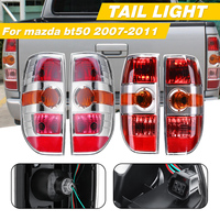 Chrome Rear Tail Light Brake Lamp Tail Light Lamp For Mazda BT50 2007 2008 2009 2010 2011 #UR56 51 150 UR56 51 160 with wire