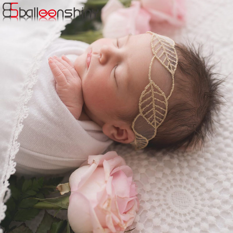BalleenShiny New Baby Lace Headband Infant Newborn Photography Props European and American Kids Hot Sale Embroidery   Headwear