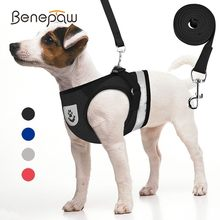 Benepaw Reflective Small Medium Dog Harness Vest Breathable Chihuahua Puppy Pet Harness Leash Set Escape Proof Pet Supplies 2019(China)