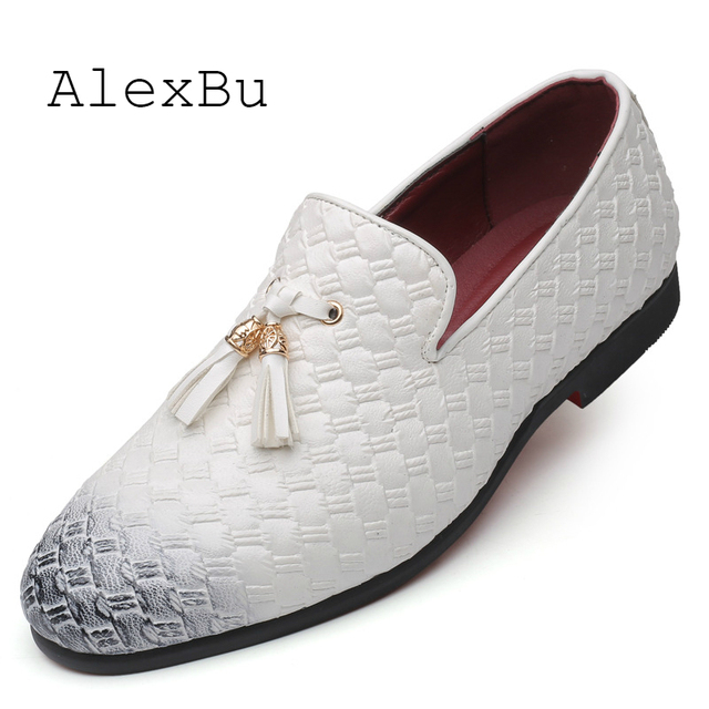 AlexBu New Man Dress Shoes Leather For Men Office Shoes Luxury Brand Business Wedding Shoe Autumn Top Quality Plus Size 38-48