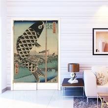 XIAOKENAI толстый фунт хлопок лен японский стиль ветер плавающий мир окрашенные затемненные занавеска для крыльца фэн шуй занавес трубчатая штанга