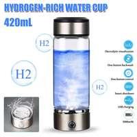 420ML 휴대용 물 Ionizer 병 충전식 음이온 물 컵 Hydrogens 풍부한 물 컵 물 생성기 알카라인