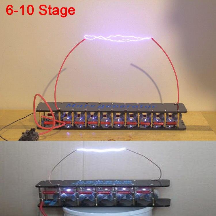 10 étapes Marx générateur Tesla Arc générateur d'impulsions kit de bricolage pour ZVS Flyback pilote conseil/bobine d'allumage