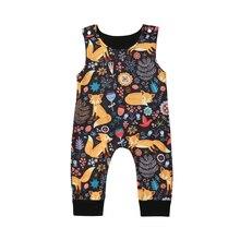Newborn Baby Boy Girl Cartoon Fox Romper Jumpsuit Sunsuit Summer Outfits