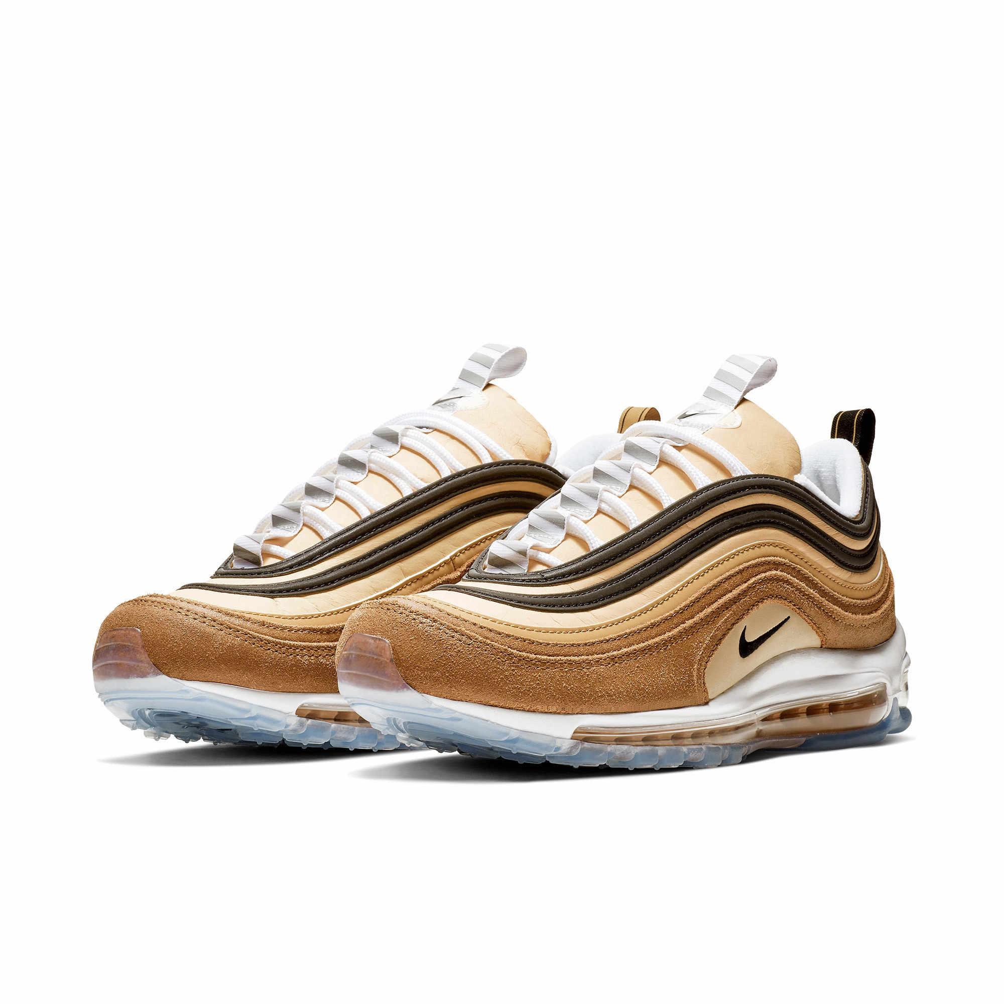 Nike официальный Air Max 97 Мужская беговая Обувь напольная, Удобная Нескользящая спортивная обувь #921826