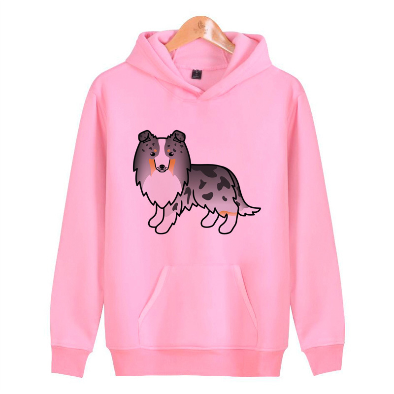 Sheltie Hoodies Sweatshirts Hop Men/women Male Streetwear Hoddies Harajuku Pullover Homme Hip J4255