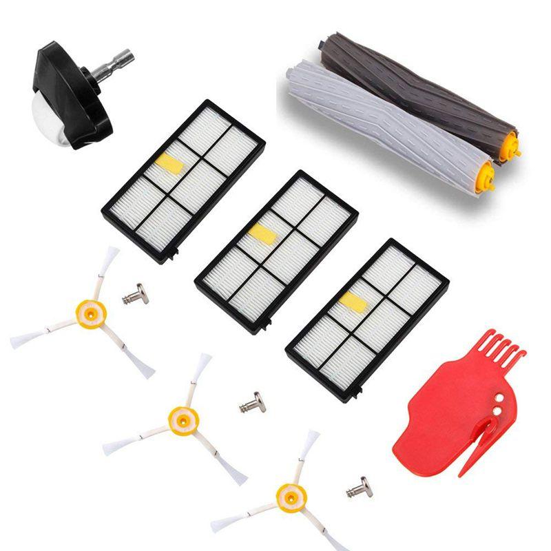 Аксессуар для iRobot Roomba 800 900 серии робот пылесосы автомобиля запчасти авто комплект пакет экстрактор, Hepa фильтр, сбоку кисточки