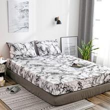Matras Beschermhoes Hoeslaken Cover Marmer Bed Stofkap Enkele Dubbele Queen Size Bed Bescherm Cover Kussensloop