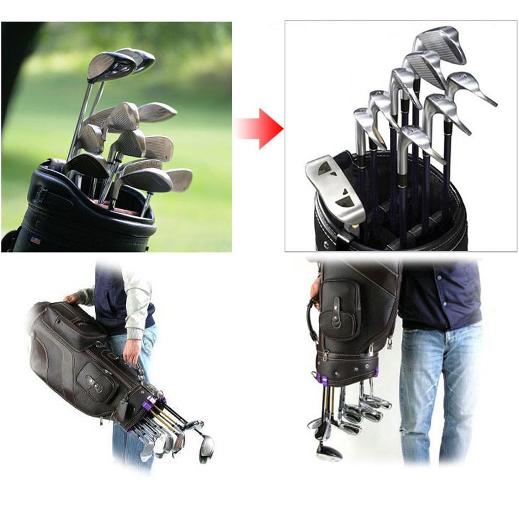 14x Abs Resin Golf Bag Club Organizer