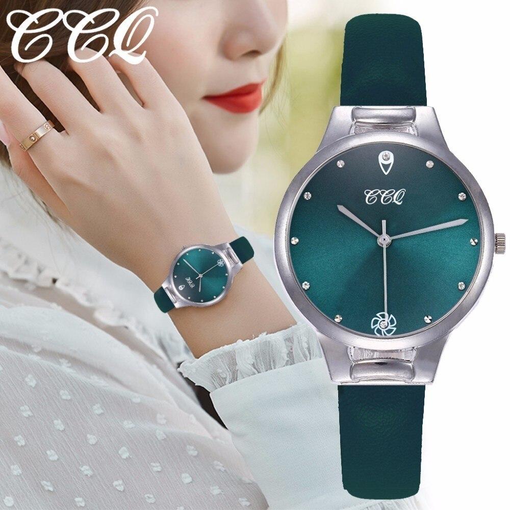 CCQ Women Dress Watches Casual Luxury Leather Analog Quartz Wrist Watch Clock Reloj Mujer Dropshipping