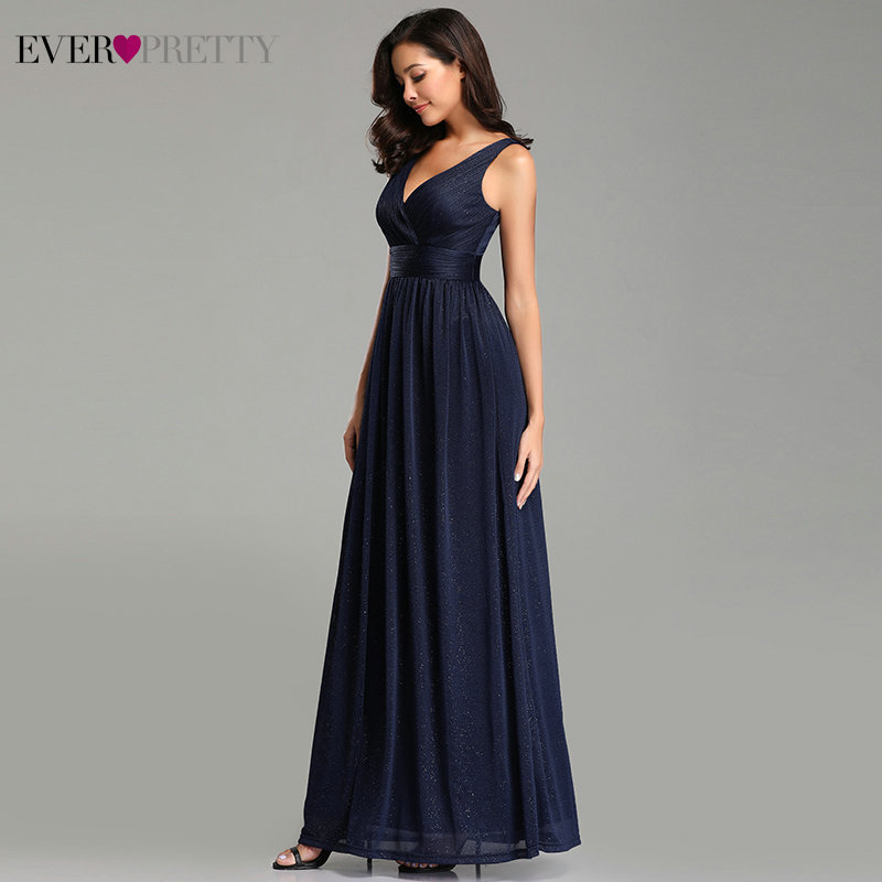 Image 4 - Ever Pretty Prom Dresses V Neck A Line Sleeveless Empire Floor Length Elegant Sexy Party Gowns 2019 Vestidos De Fiesta De Noche-in Prom Dresses from Weddings & Events