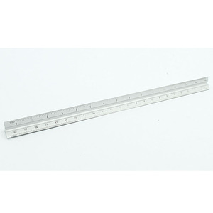 30cm Aluminium Metal Triangle Scale Architect Engineer Technical Ruler