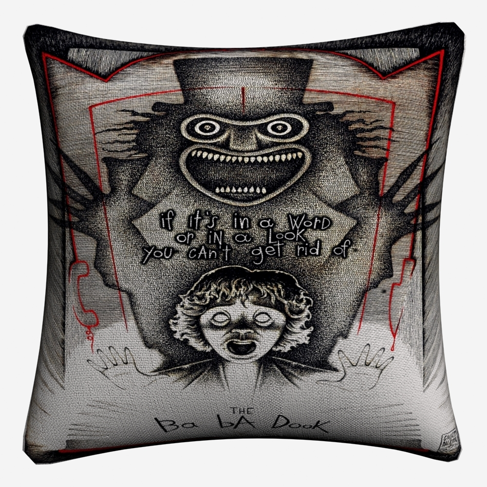 Babadook Horror Movie Photography Decorative Cotton Linen Cushion Cover 45x45cm For Sofa Chair Pillowcase Home Decor Almofada in Cushion Cover from Home Garden