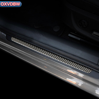 carbon fibre Door Sills Scuff Plate Trim Welcome Pedal Threshold For Audi A6C7Car accessories Stickers Car Styling interior trim