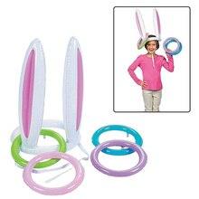 Надувные уши кролика кольцо бросать игры вечерние игрушки для детей родителей Рождество Крытый играть YJS Прямая поставка
