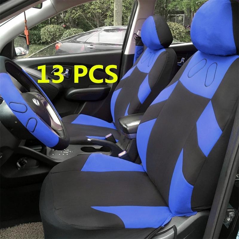 13 Pcs Set Copertura Di Sede Dell'automobile Del Veicolo Auto Cuscino Protector Con Volante Wrap Spalla Pad Cintura Di Sicurezza Grandi Varietà
