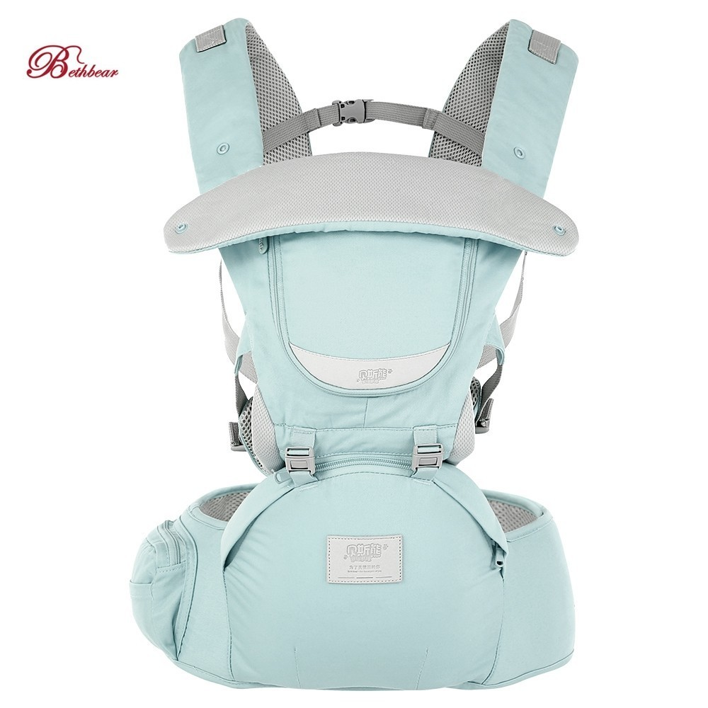 Bethbear 3 in 1 Hipseat Ergonomic Baby Carrier Wrap Infant Sling Backpack